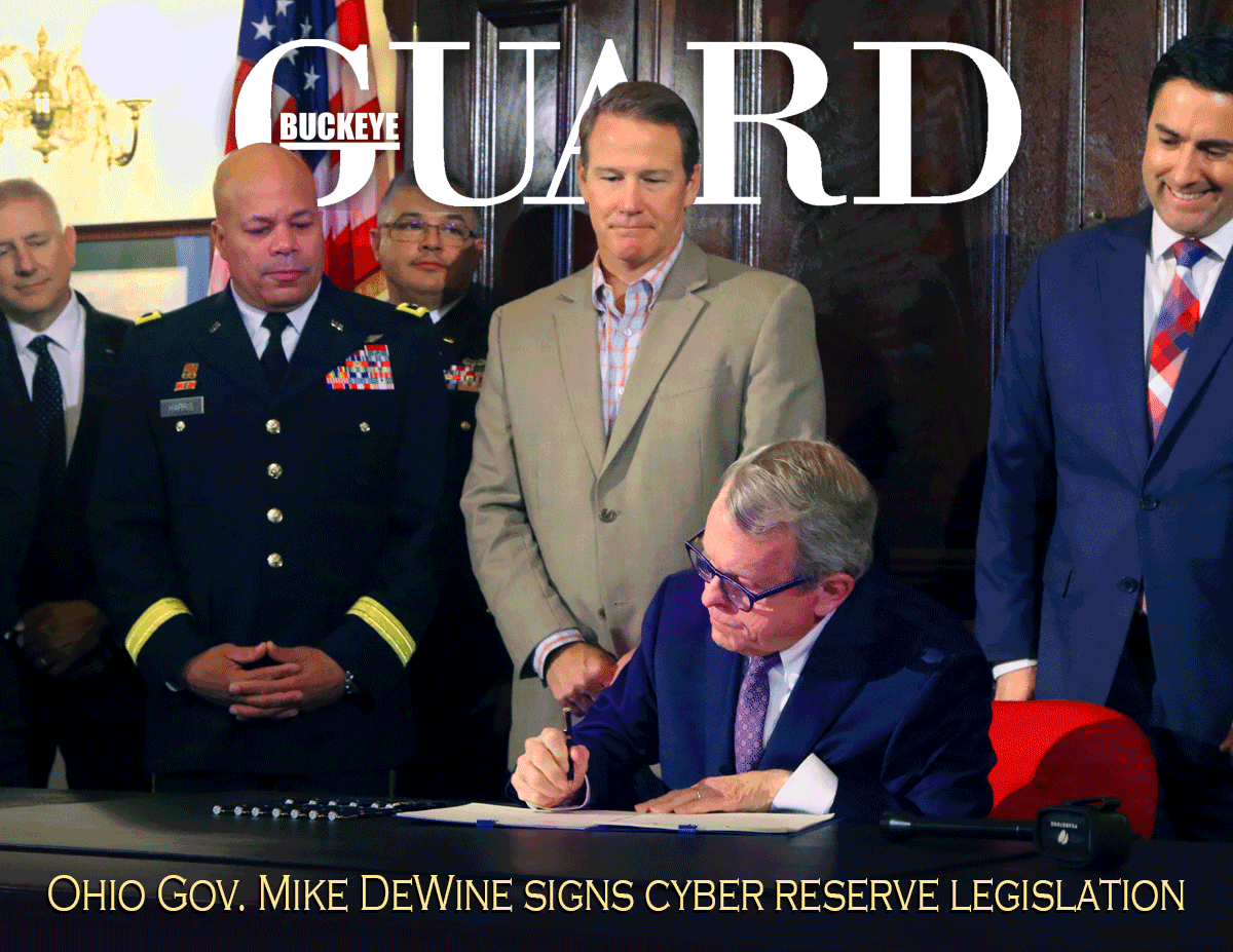 Buckeye Guard - Vol 37, No6 cover. Official online publication of the Ohio National Guard
