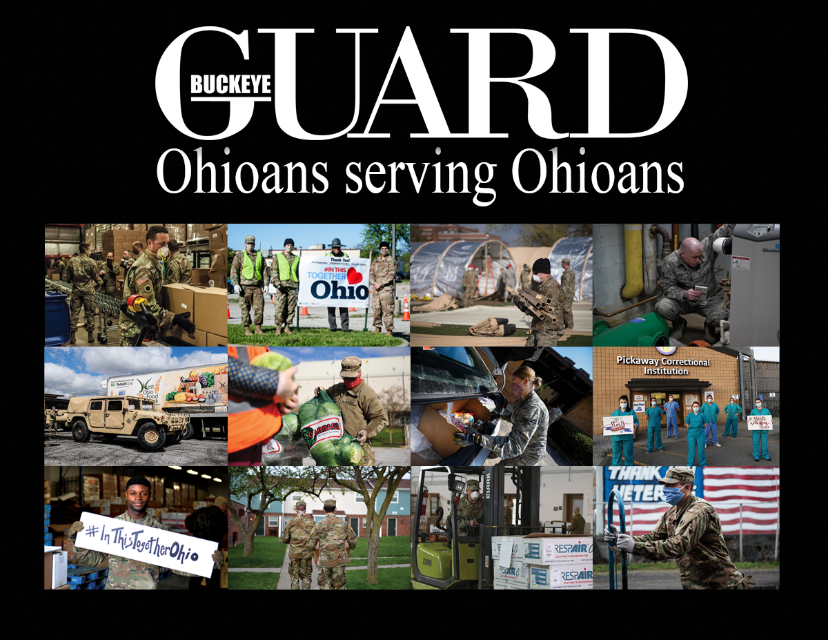 Buckeye Guard - Vol 38, No2 cover. Official online publication of the Ohio National Guard