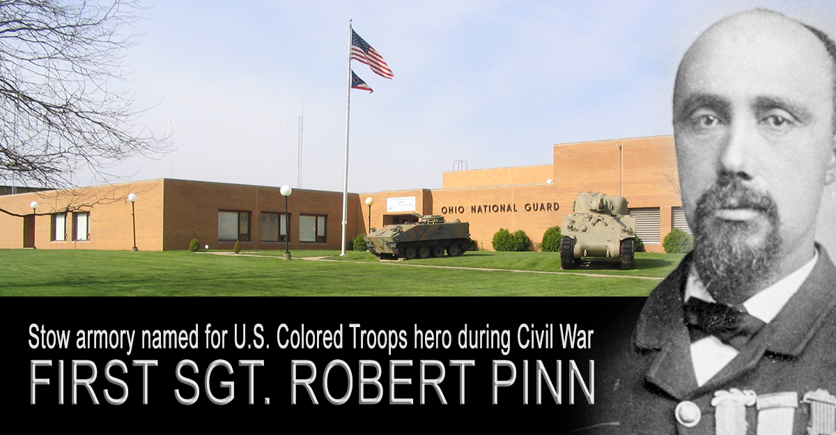 Stow armory with 1st Sgt Robert Pinn super imposed