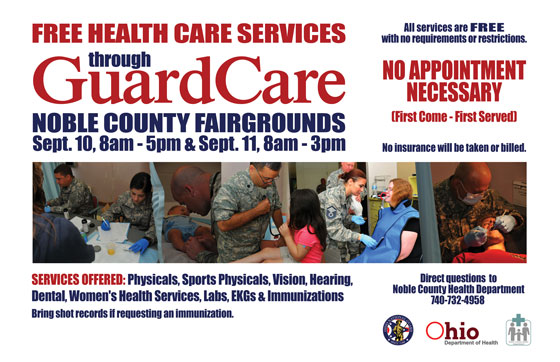 FREE Guard Care Services in Noble County.