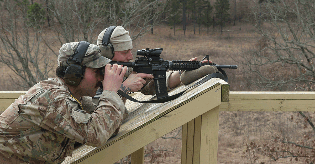 Soldiers work to engage targets as far as 780 meters in distance.
