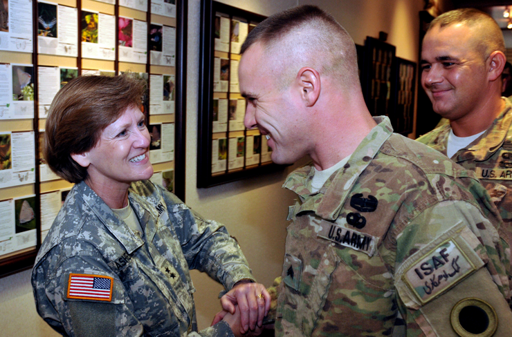 Maj. Gen. Deborah A. Ashenhurst, Ohio adjutant general, was sworn in as the new vice chair for Army Sept. 12, 2012, at the annual NGAUS conference.