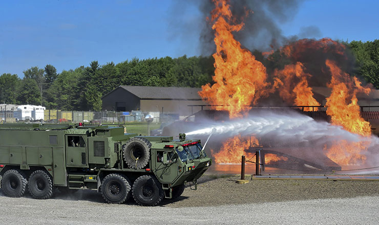 ohio army  air national guard firefighters continuously hone skills