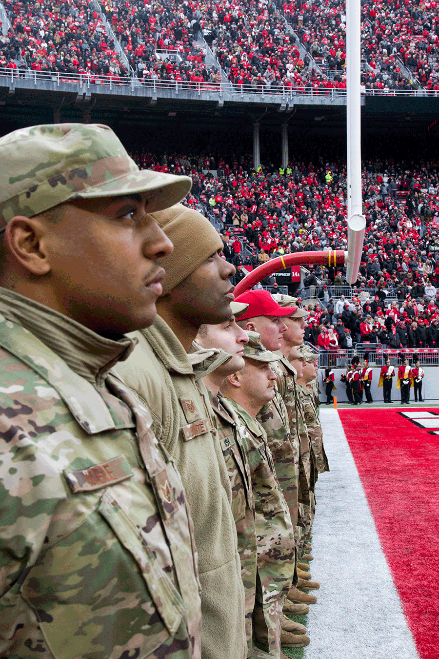 Ohio National Guard Honored During Ohio State Football Military Appreciation Game