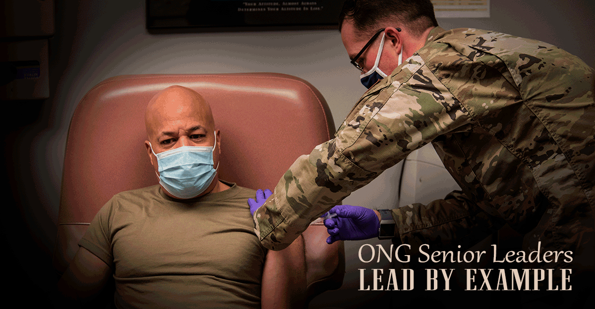 Major General John C. Harris Jr. receives vaccine.